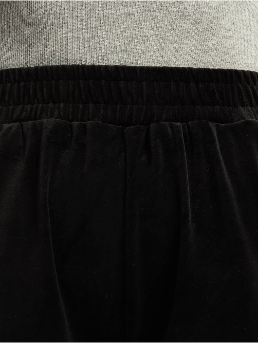 Urban Classics Jogging kalhoty Ladies High Waist Straight Velvet čern