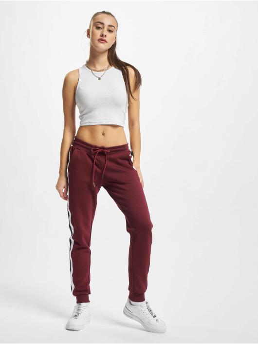 Urban Classics Jogging kalhoty Ladies College Contrast červený