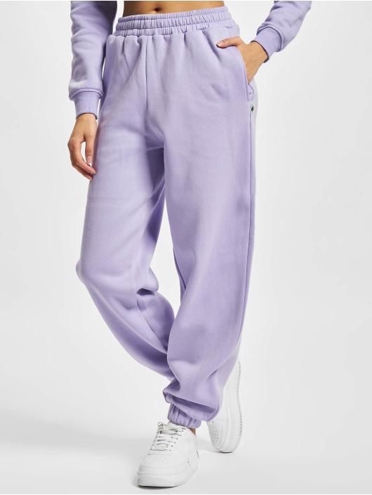 Urban Classics Jogging kalhoty Ladies Organic High Waist Ballon fialový
