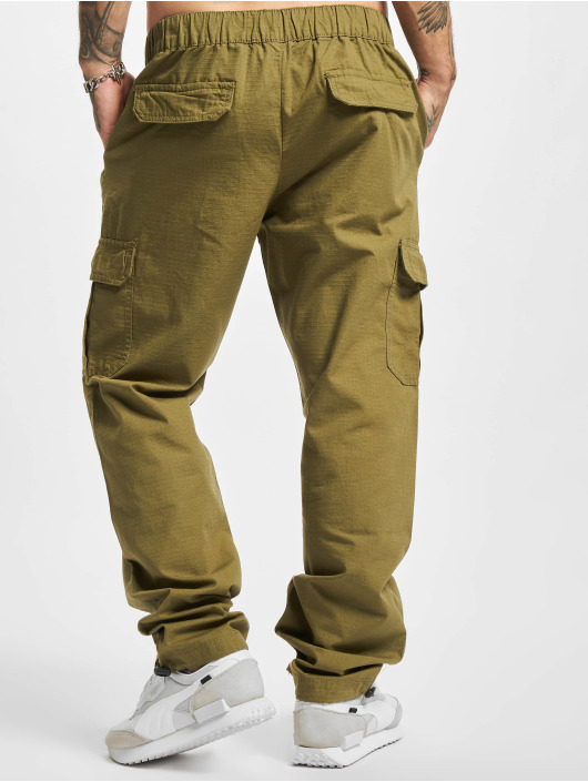 Urban Classics Jogging kalhoty Ripstop olivový