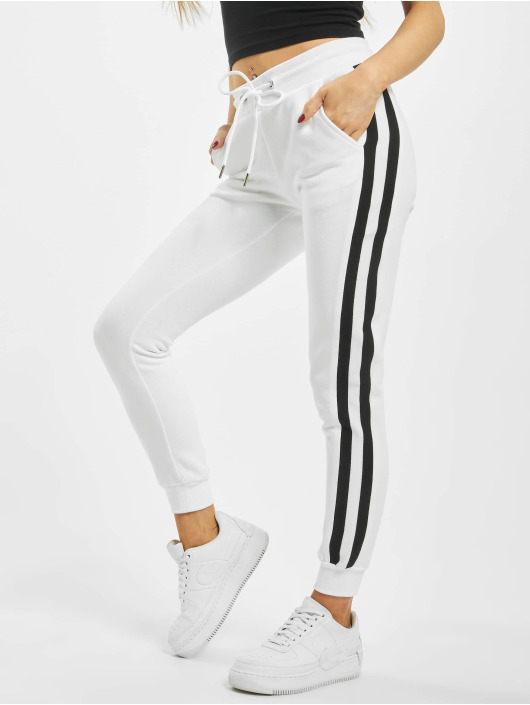 Urban Classics joggingbroek College Contrast wit