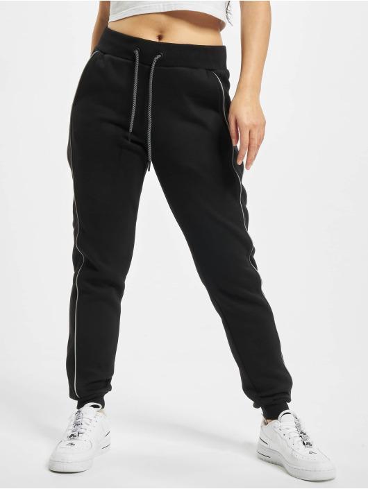 Urban Classics joggingbroek Ladies Reflective zwart