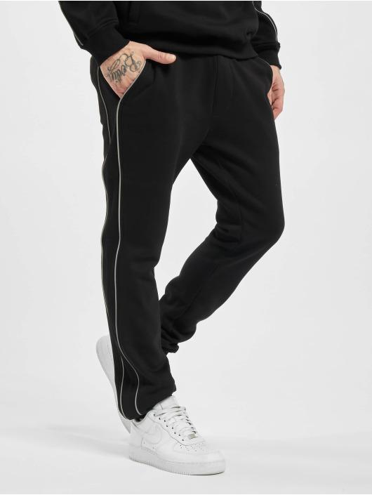 Urban Classics joggingbroek Reflective zwart