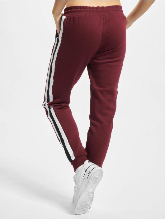 Urban Classics Joggingbyxor Ladies College Contrast röd