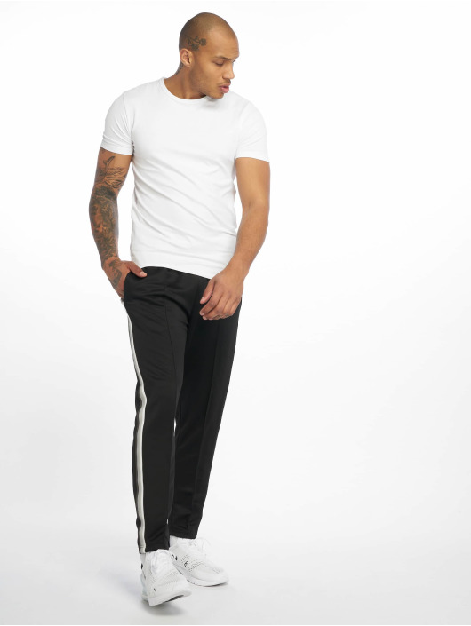 Urban Classics Joggingbyxor Side Taped svart