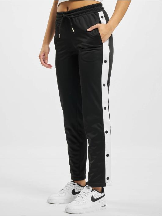 Urban Classics Jogginghose Button Up schwarz