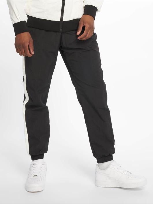 Urban Classics Jogginghose Side Striped Crinkle schwarz