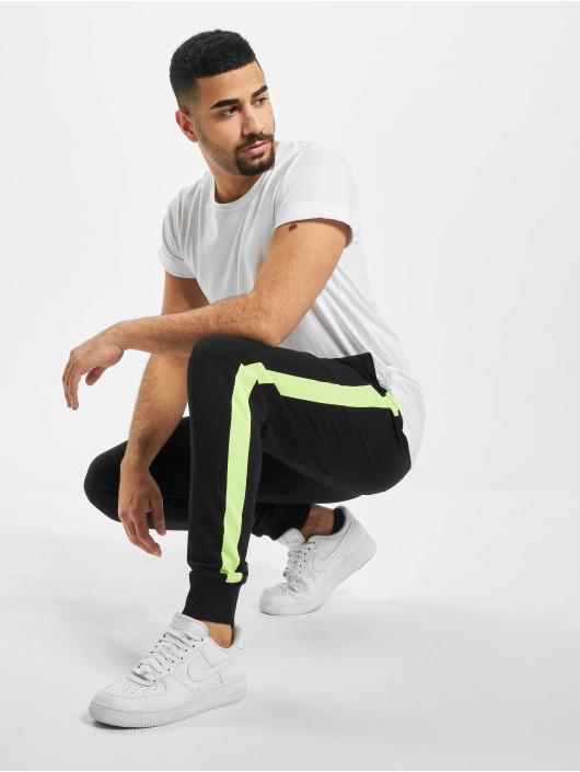Urban Classics Jogginghose Neon Striped schwarz