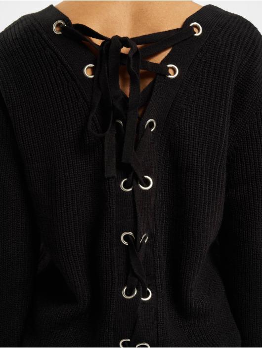 Urban Classics Jumper Back Lace Up black