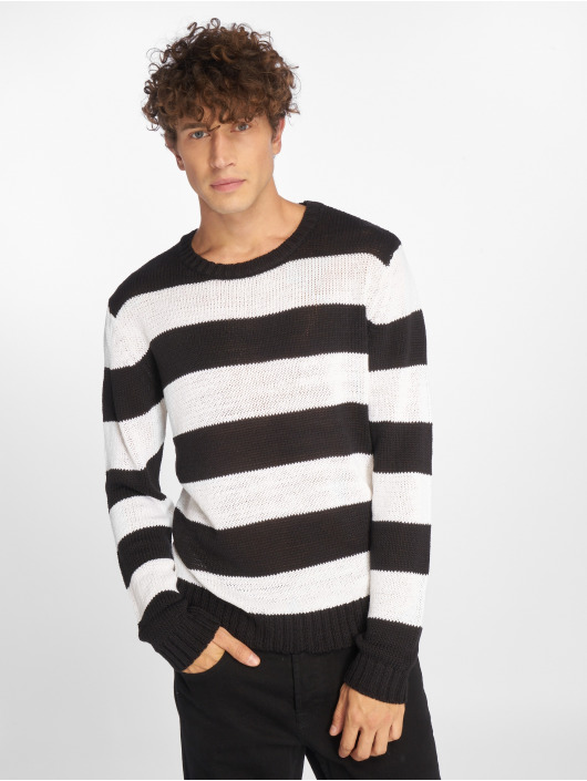 Urban Classics Jumper Striped black