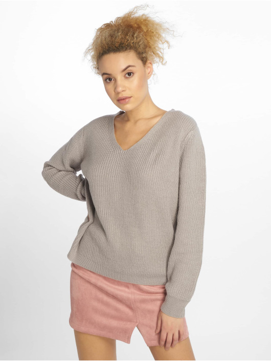 Urban Classics Jumper Back Lace Up grey