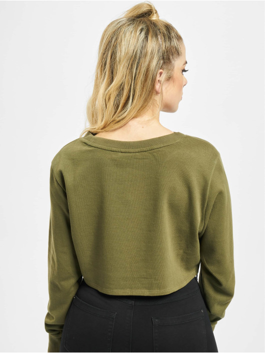 Urban Classics Jumper Terry Cropped olive