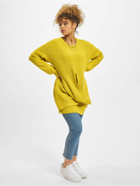 Urban Classics Jumper Wrapped yellow