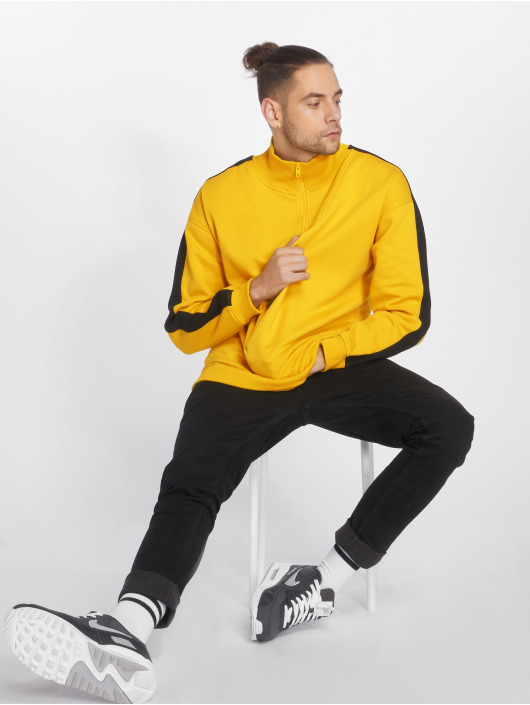 Urban Classics Jumper Oversize Stripe Troyer yellow