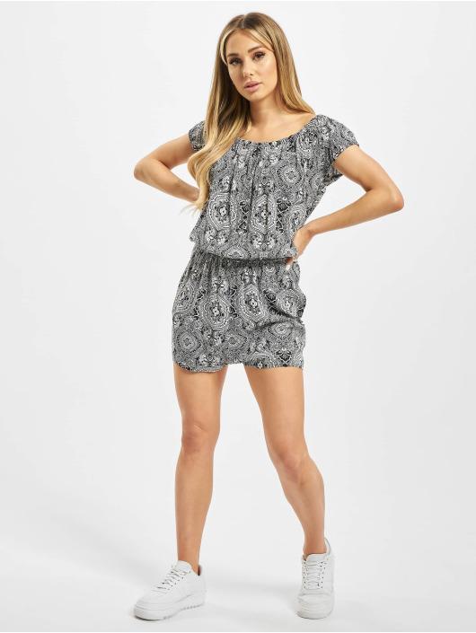 Urban Classics Jumpsuit Ladies All Over Print Off Shoulder schwarz