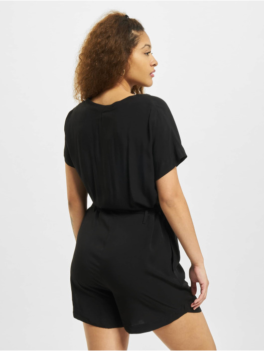 Urban Classics Jumpsuit Ladies Short Viscose Belt schwarz