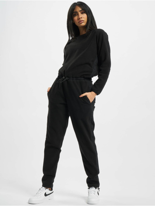 Urban Classics jumpsuit Ladies Polar Fleece zwart