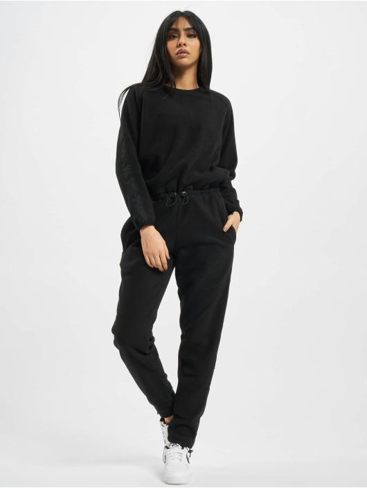 Urban Classics jumpsuit Ladies Polar Fleece zwart