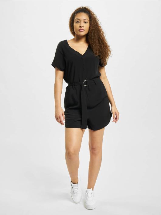 Urban Classics jumpsuit Ladies Short Viscose Belt zwart