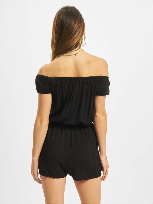 Urban Classics Jumpsuits Off Shoulder czarny