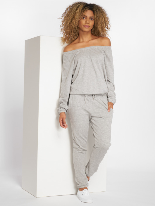 Urban Classics Jumpsuits Terry grey