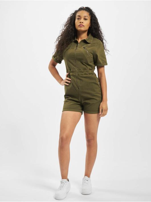 Urban Classics Jumpsuits Ladies Short Boiler Hot olive