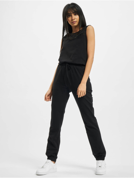 Urban Classics Jumpsuits Ladies Lace Block svart