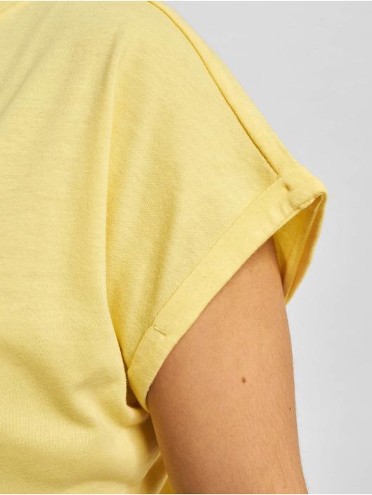 Urban Classics jurk Ladies Turtle Extended Shoulder geel