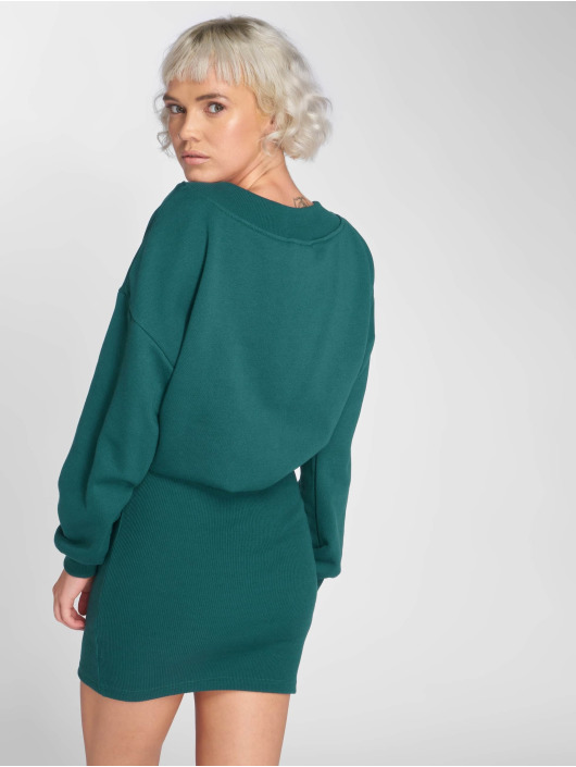 Urban Classics jurk Off Shoulder groen