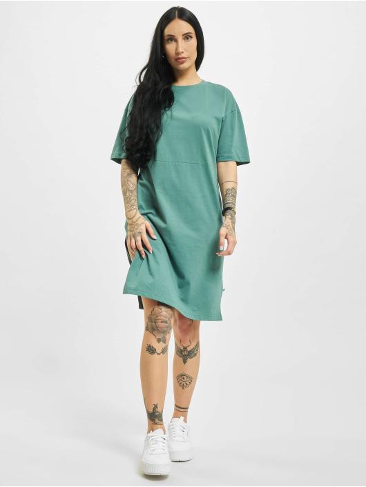 Urban Classics jurk Organic Oversized Slit groen