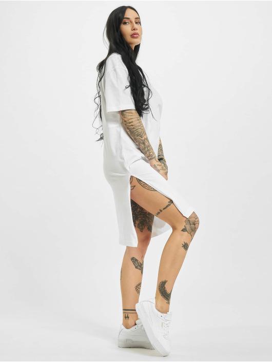 Urban Classics jurk Organic Oversized Slit wit