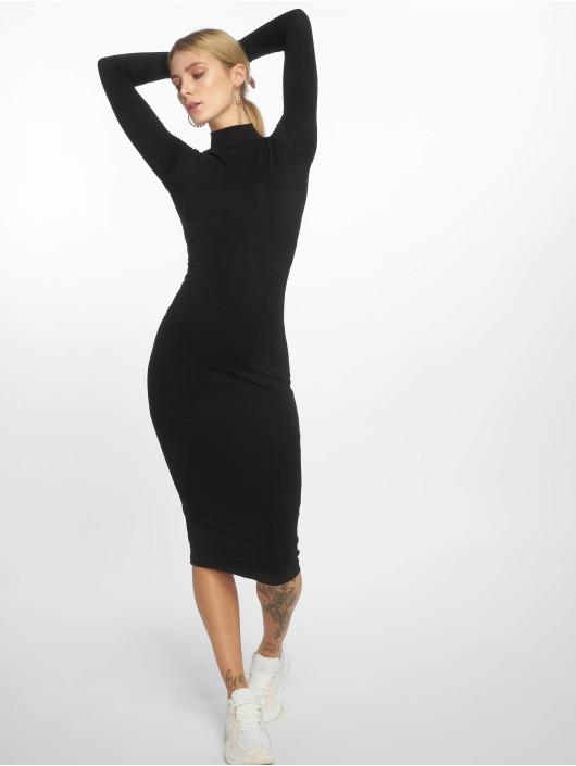 Urban Classics jurk Ladies Turtleneck zwart