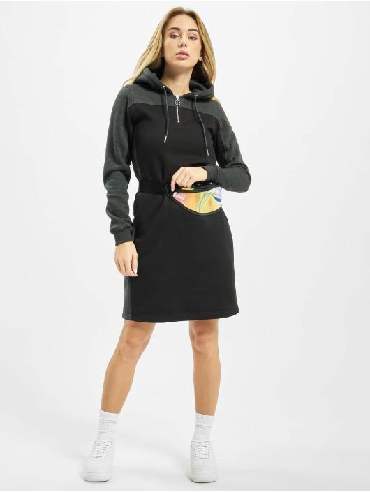 Urban Classics jurk Ladies 2-Tone Hooded zwart