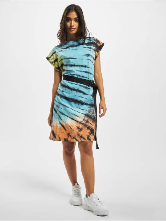 Urban Classics jurk Tie Dye zwart