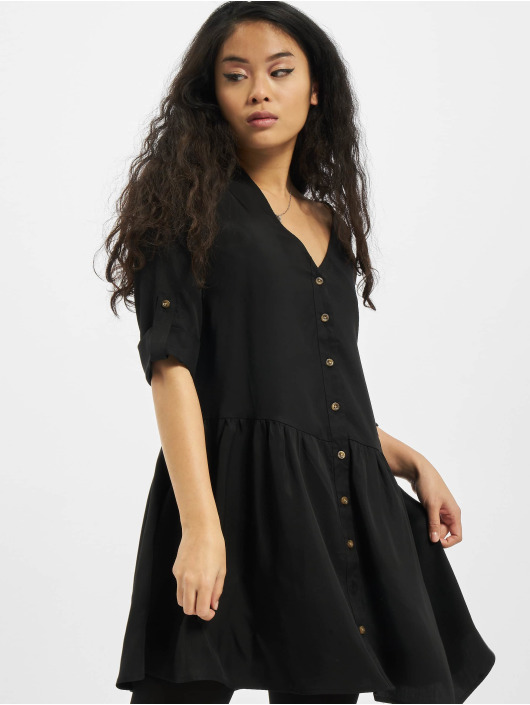 Urban Classics jurk Ladies Babydoll zwart