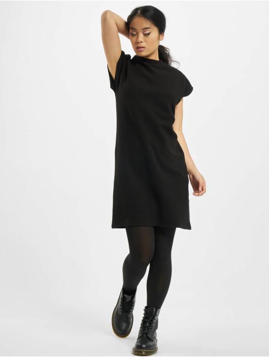 Urban Classics jurk Ladies Naps Terry Extended Shoulder zwart