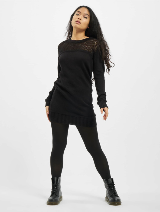 Urban Classics jurk Ladies Light Knit zwart