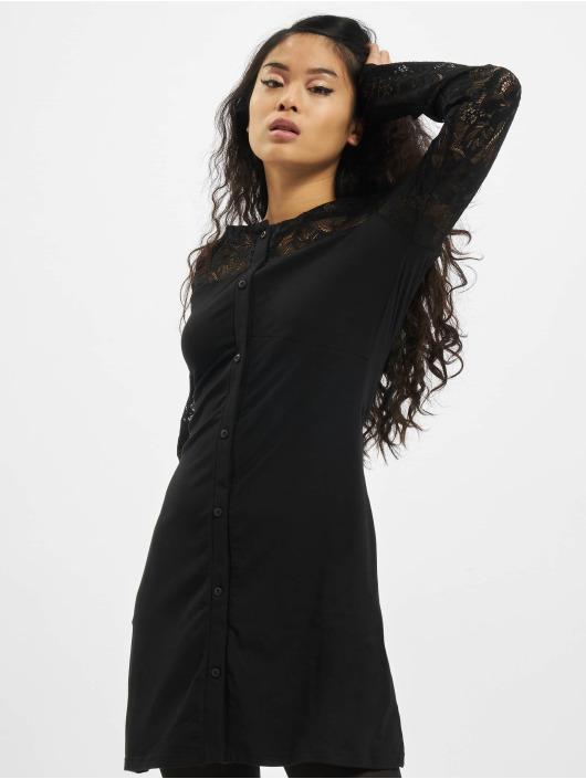 Urban Classics jurk Ladies Lace Block zwart