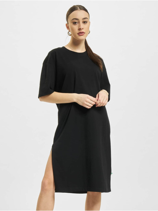 Urban Classics jurk Organic Oversized Slit zwart