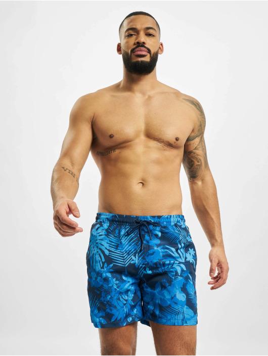 Urban Classics Kúpacie šortky Pattern  Swim Trunks modrá