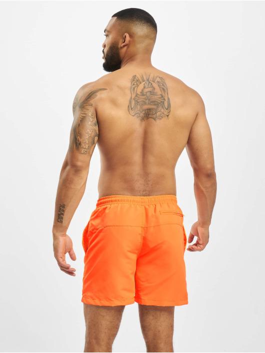 Urban Classics Kúpacie šortky Block  2-Pack oranžová