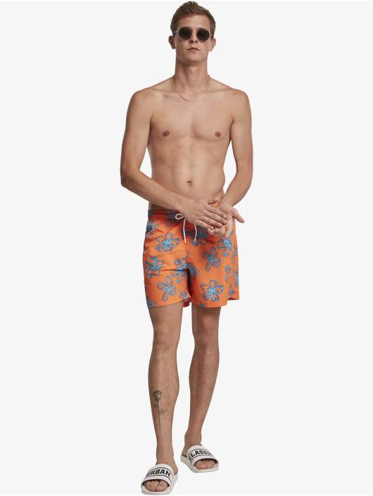 Urban Classics Kúpacie šortky Floral oranžová