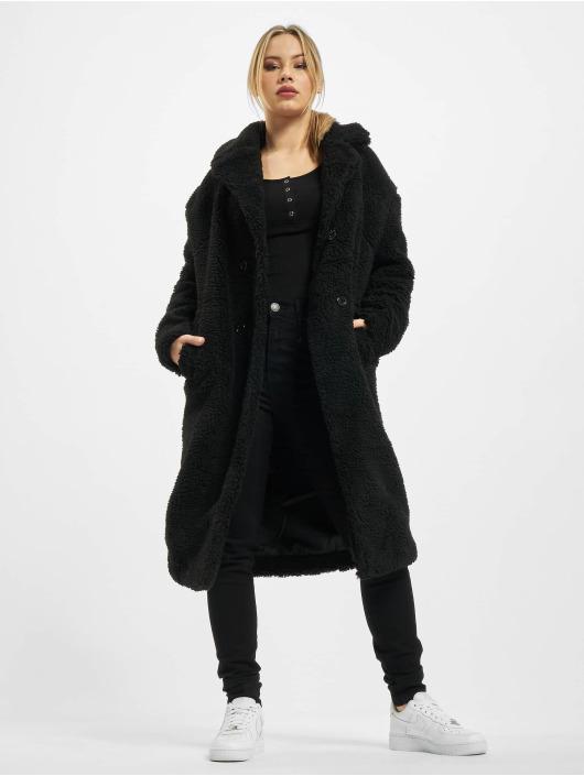 Urban Classics Kabáty Ladies Oversized Teddy èierna