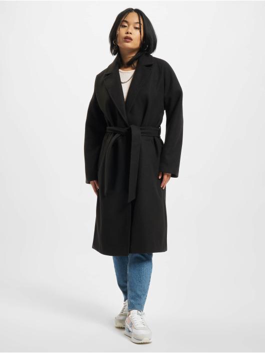 Urban Classics Kabáty Ladies Oversized Classic èierna