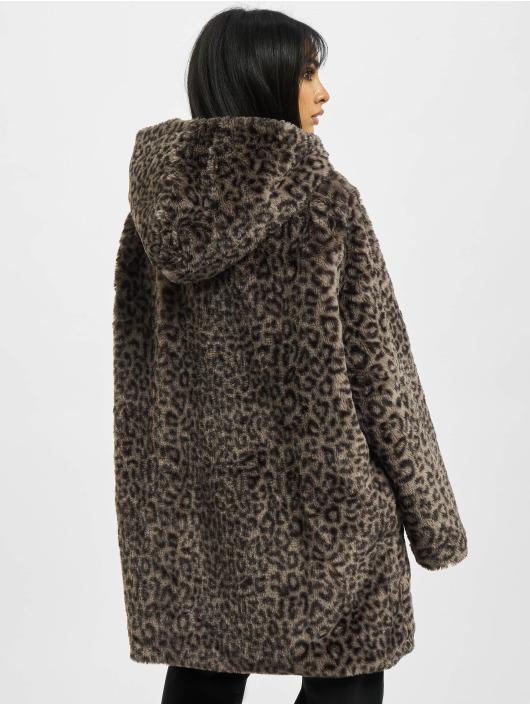 Urban Classics Kabáty Ladies Teddy šedá