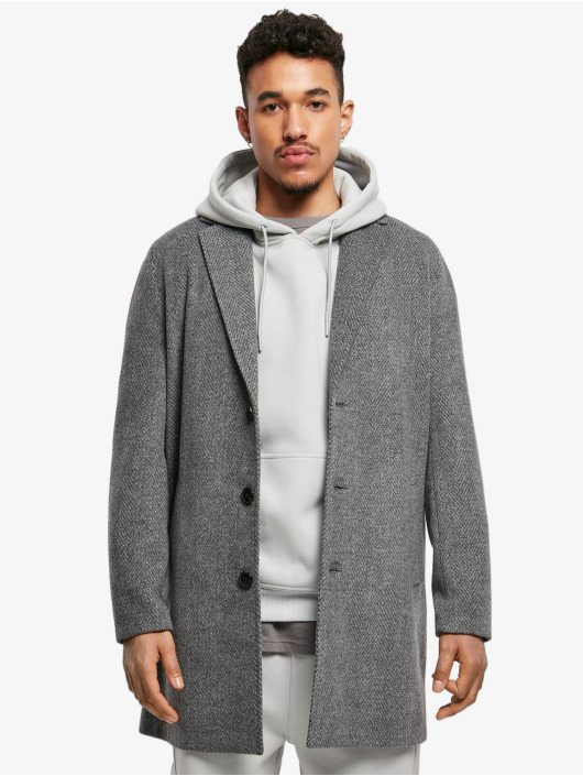 Urban Classics Kabáty Classic Herringbone šedá