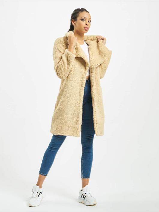 Urban Classics Kabáty Soft Sherpa béžová