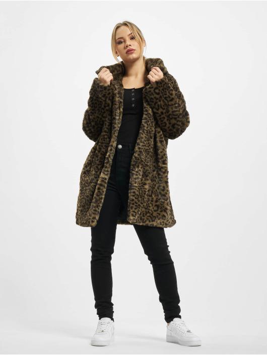 Urban Classics Kabáty Ladies Leo Teddy olivová