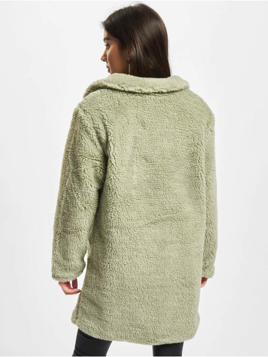 Urban Classics Kabáty Ladies Oversized Sherpa olivová
