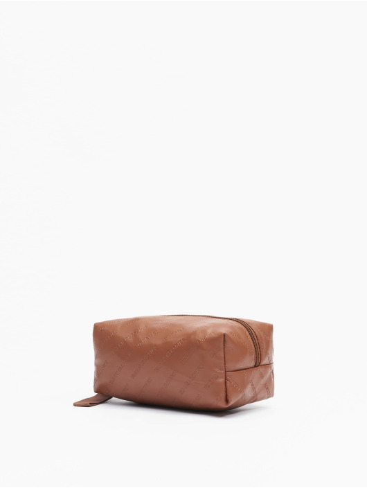 Urban Classics Kabelky Imitation Leather Cosmetic Pouch hnedá